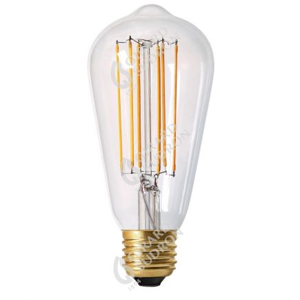 Edison Filament LED 6W E27 2300K 450Lm Dim. Cl. RA>90