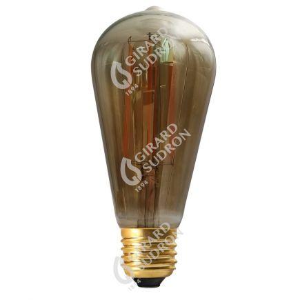 Edison Filament LED 6W E27 2100K 300Lm Dim. Smoky RA>90