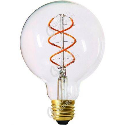 Globe G95 Filament LED TWISTED 5W E27 2200K 300Lm Cl.