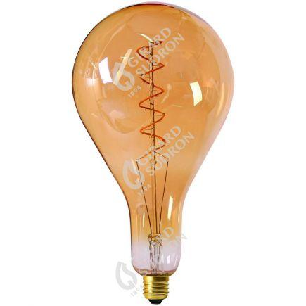 Große Glühbirnen Leuchtfaden LED TWISTED 290mm 6W E27 2000K 300Lm Dim. Berns..