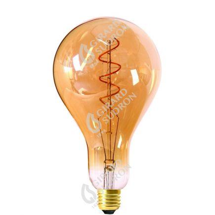 Große Glühbirnen Leuchtfaden LED TWISTED 240mm 4W E27 2000K 200Lm Dim. Berns..