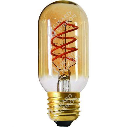 Röhre T45 Leuchtfaden LED TWISTED 110mm 4W E27 2000K 200Lm Dim. Berns..