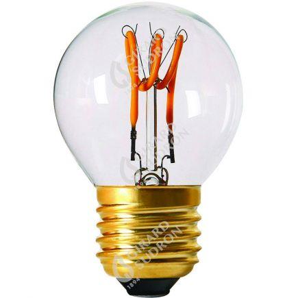 Sphérique G45 Filament LED Torsadée 3W E27 120lm Dim. Cl.