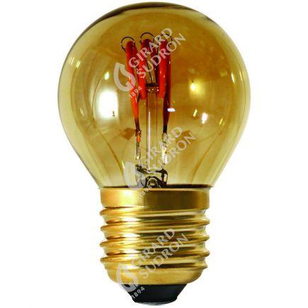 Sphérique G45 Filament LED 3 LOOPS 3W E27 2000K 90lm Dim. Smoky