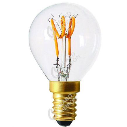 Sphérique G45 Filament LED Torsadée 3W E14 120lm Dim. Cl.