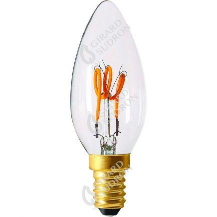 Flamme C35 Filament LED 3 LOOPS 3W E12 120lm Dim. Cl.