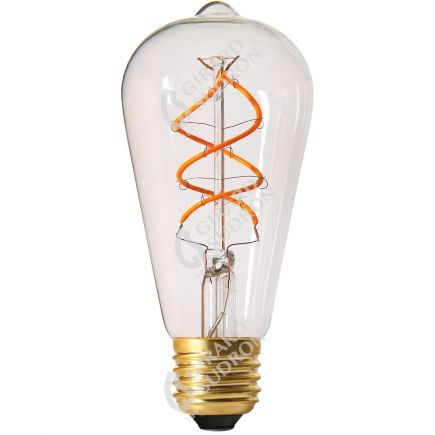 Edison Filament LED TWISTED 4W E27 2200K 240lm  Dim. Cl.