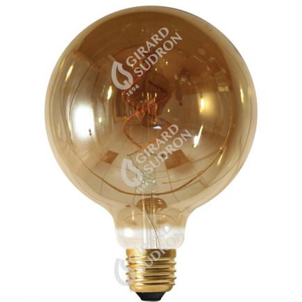 Globe G125 Filament LED TWISTED 4W E27 2000K 160Lm Dim. Smoky