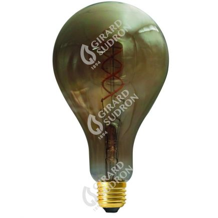 Ampoule Géante Filament LED TWISTED 200mm 4W E27 2000K 160Lm Dim. Smoky