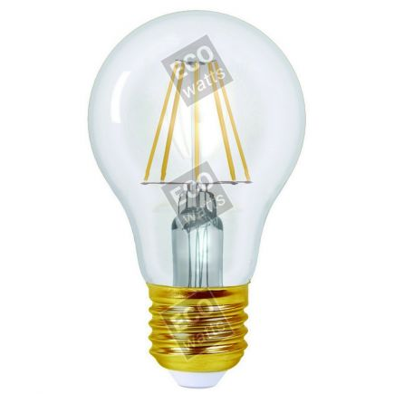 Ecowatts - Standard A60 Leuchtfaden LED 6W E27 2700K 760Lm Kl.