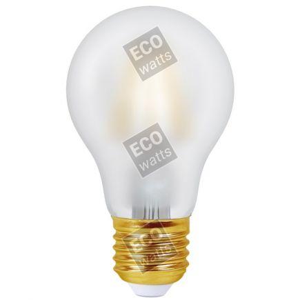 Ecowatts - Standard A60 Leuchtfaden LED 6W E27 2700K 740Lm Mat