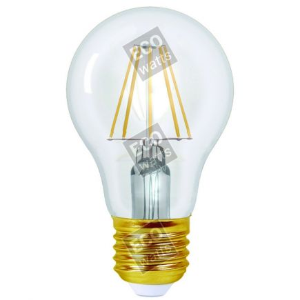 Ecowatts - Standard A60 Leuchtfaden LED 8W E27 2700K 980Lm Kl.