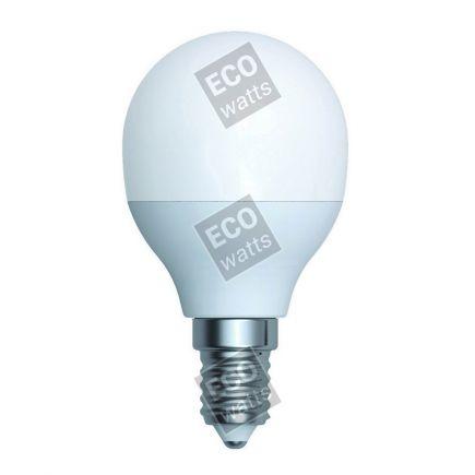 Ecowatts - Miniglobe G45 (2 stücke) LED 270° 5.5W E14 2700K 470Lm Milchig