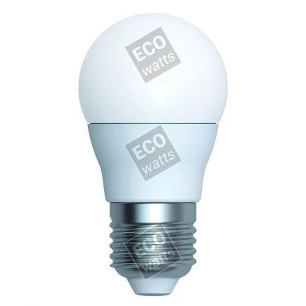Ecowatts - Miniglobe G45 (2 stücke) LED 270° 5.5W E27 2700K 470Lm Milchig