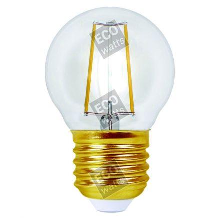Ecowatts - Kugel G45 Leuchtfaden LED 4W E27 2700K 420Lm Kl.