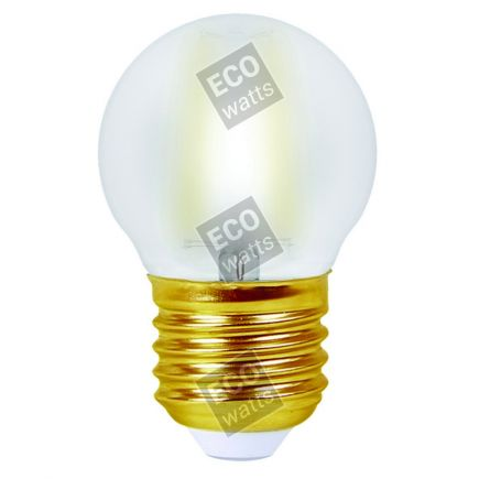 FS EcoWatts - SPHERIQUE FIL. LED 4W E27 2700K 400lm SATINEE BLIST  3125469986539