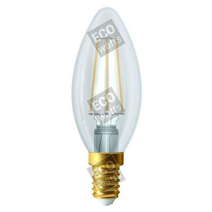 Ecowatts - Flammen C35 Leuchtfaden LED 4W E14 2700K 420Lm Kl.