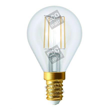 Ecowatts - Kugel G45 Leuchtfaden LED 4W E14 2700K 420Lm Kl.