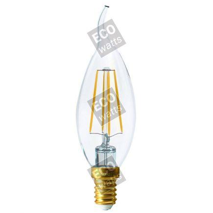 """Ecowatts - Flammen """"Coup de Vent"""" Leuchtfaden LED 4W E14 2700K 470Lm Kl."""