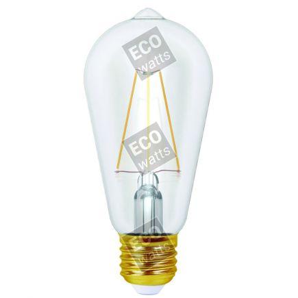 Ecowatts - Edison Leuchtfaden LED 4W E27 2700K 400Lm Kl.