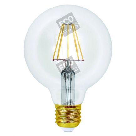 Ecowatts - Globe G95 Leuchtfaden LED 8W E27 4000K 1055Lm Kl.