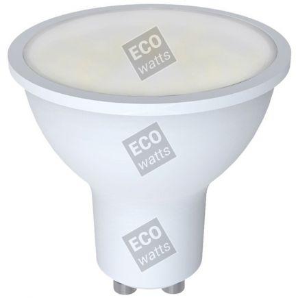 Ecowatts - Spot GU10 (3 stücke) LED W 3000K 400Lm 100° Milchig