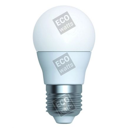 Ecowatts - Miniglobe G45 LED 270° 5.5W E27 4000K 490Lm Milchig