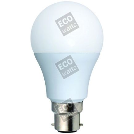 Ecowatts - Standard A60 LED 270° 9W B22 2700K 806Lm Milchig