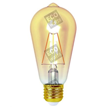 Ecowatts - Edison Leuchtfaden LED 4W E27 2200K 320Lm Dim. Berns..