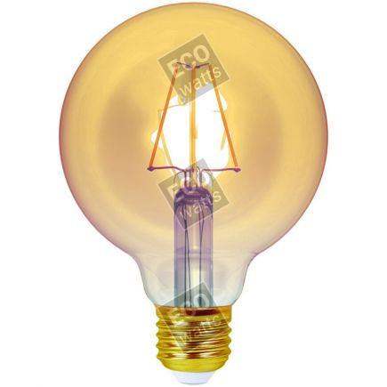 Ecowatts - Globe G95 Leuchtfaden LED 4W E27 2200K 320Lm Dim. Berns..