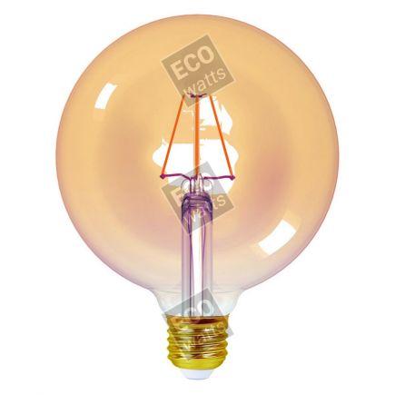 Ecowatts - Globe G125 Leuchtfaden LED 4W E27 2200K 360Lm Dim. Berns..