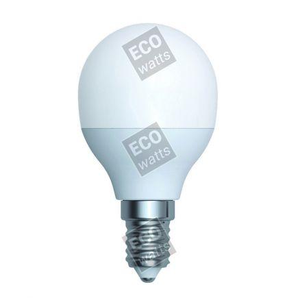 Ecowatts - Miniglobe G45 LED 270° 5.5W E14 4000K 490Lm Milchig
