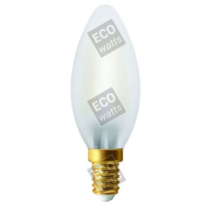 FS Ecowatts - Lot de 2 Ampoules Filament LED - Flamme 4W E14 4000K Mat 3125469986997