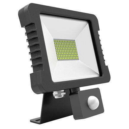 Yonna - LED Projektor-Leuchte IP 65 118x167.5x27.5 10W 4000K 760lm 110° schwarz PIR