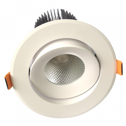 Cavell - LED-einbau-Downlight Ø142x118 ein.Ø110 25W 3000K 2130lm 36° weiß