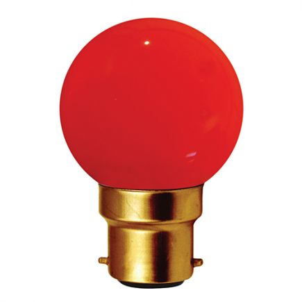 SPHERICAL LED 1W B22 30LM RED