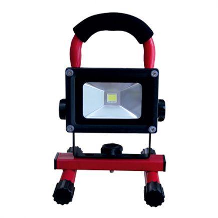 Lassen - LED Projektor-Leuchte tragbar IP 65 240x115x167 10W 2700K 600lm 120° rot