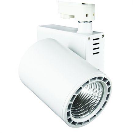 Jacinto - LED Schienenstrahler Ø99 x 148 20W 3000K 1700lm 36° weiß