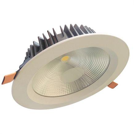 Alhena - Kippbares LED-einbau-Downlight Ø230x72 ein.Ø200 25W 4000K 2250lm 108° weiß