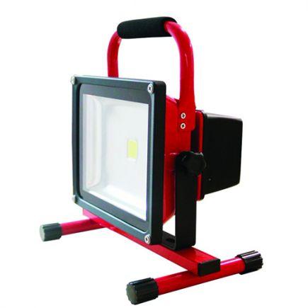 Lassen - LED Projektor-Leuchte IP 65 305 x225x184 30W 2700K 1200lm 120° rot