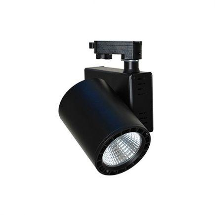 Jacinto - LED Schienenstrahler Ø99 x 148 20W 3000K 1700lm 36° schwarz