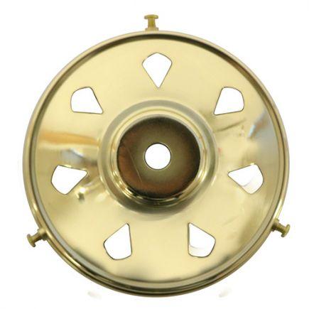 Griffe 100mm H.29mm tr.Ø11mm laiton poli verni