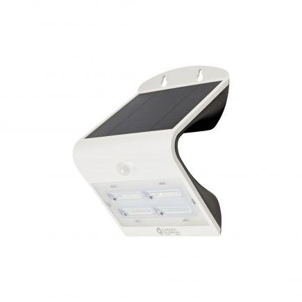 BUTTERFLY - Projecteur solaire LED blanc détecteur présence IP65 4000K 3,2W 400lm