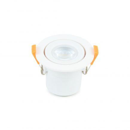 Spot LED Orientable plast D87mm H65mm IP65 6W 3000K 550lm dim ClassII