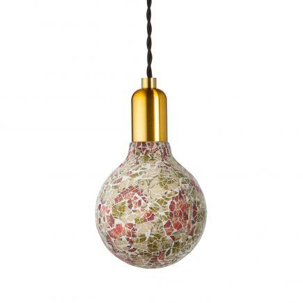 Ampoule MOZAIC florale G125-filament Led-4W-E27-2100K-Dim G