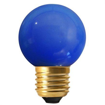 Bunte Miniglobe LED 1W E27 30Lm Blau
