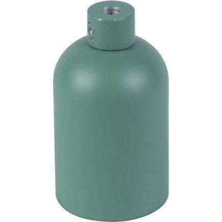 Douille E27 aluminium ø42mm H.62mm vert céladon mat
