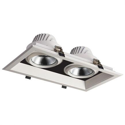 Jay - Downlight mit mehreren LED 351x200x107 ein.325x175 2x30W 4000K 5400lm 36° weiß