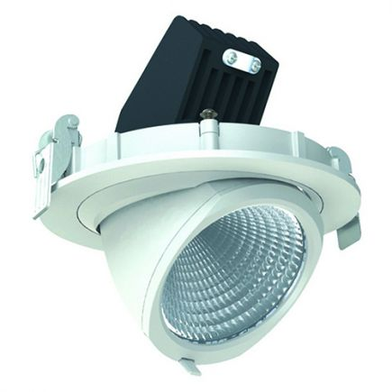 Simba - LED-einbau-Downlight einstellbar Ø136x100 ein.Ø125 20W 4000K 1204lm 36° weiß