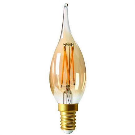 Candle GS4 Filament LED 5W E12 2500K 420Lm Dim. Amb.